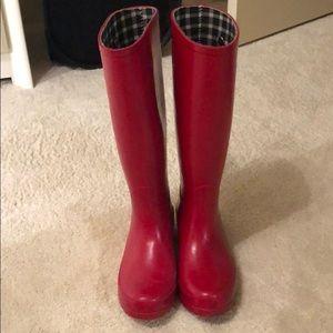 Banana republic red rain boots
